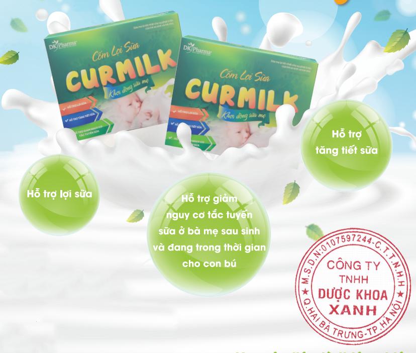 Tác dụng cốm lợi sữa Curmilk