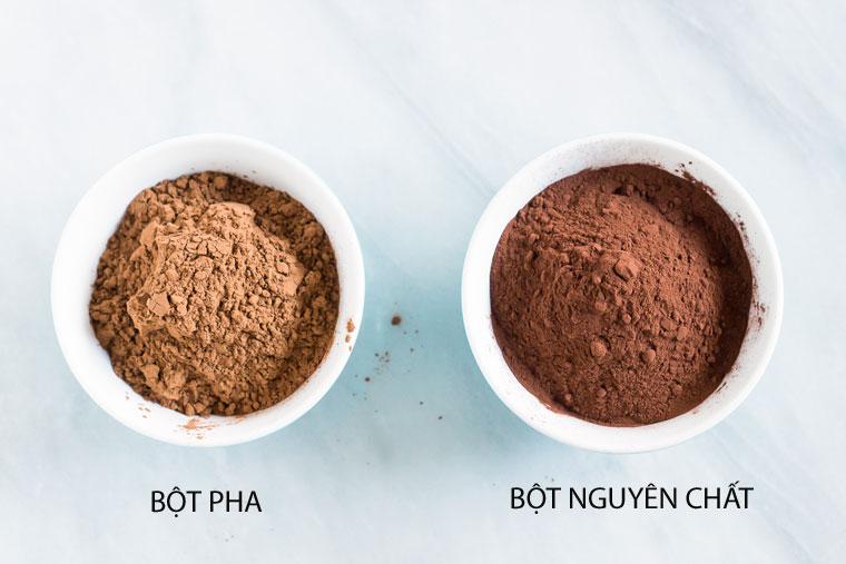 Phân biệt bột ca cao nguyên chất và bột ca cao pha trôn