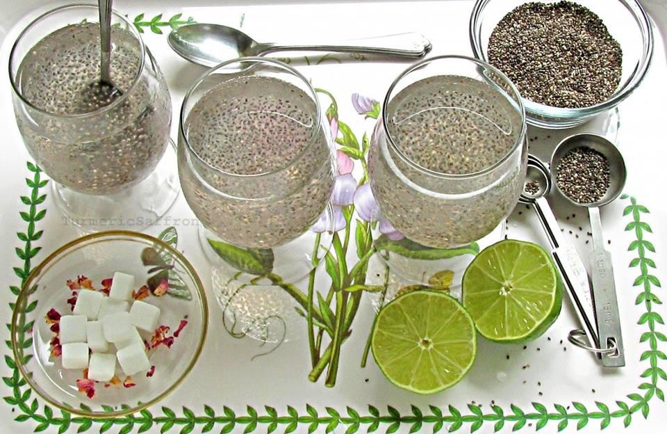 trà chanh, hạt chia
